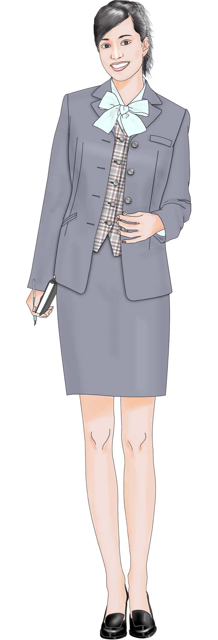 女职业装效果图手绘图